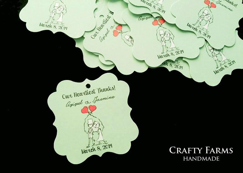Wedding Gift Card Malaysia : wedding stationery, thank you tag, wedding favor malaysia