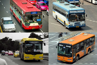 Uniknya Taxi dan Bus Warna-Warni Di Bangkok