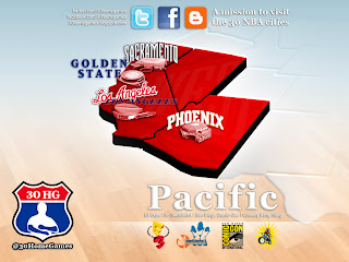 nba, pacific, map