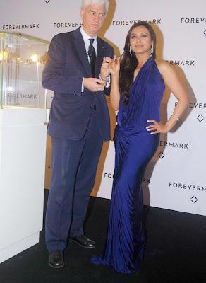 Rani Mukherjee Hot in Blue Dress Latest Photos