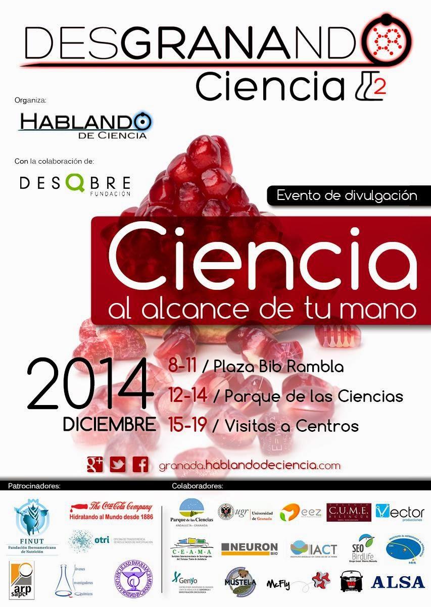 Cartel Desgranando Ciencia 2014
