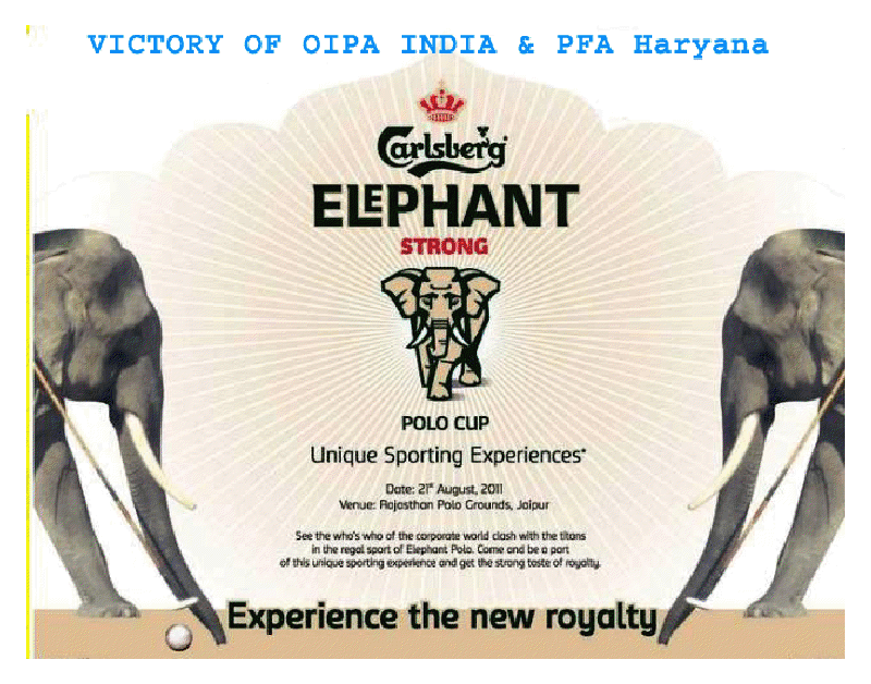 Ban Elephant Polo in India - Naresh Kadyan