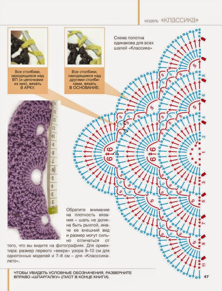 Бактус крючком со схемой вязания