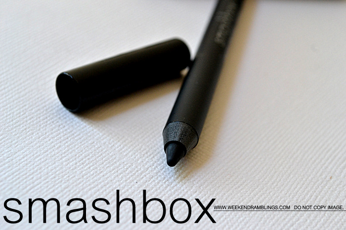 Smashbox Limitless Eyeliner Pencil Onyx Review Matte Black Indian Makeup Beauty Blog Swatches Review FOTD EOTD