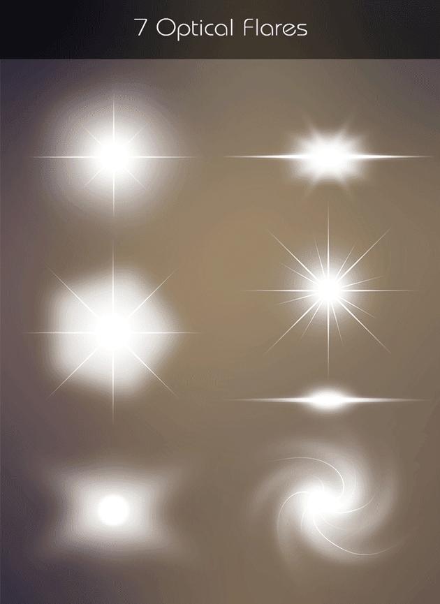 高品質な輝きエフェクトが合計7種類