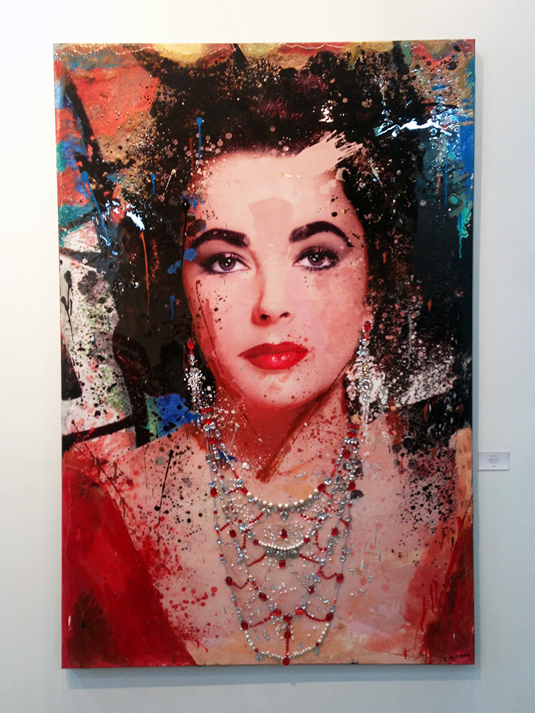 White Diamonds by Julie Mimran, Elizabeth Taylor portrait, Miami Beach Art Basel 2014
