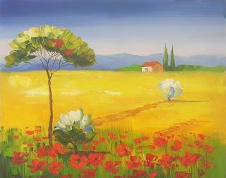 L 39 arte accessibile arredare con i dipinti a olio paesaggi - Chi ha dipinto il bagno turco ...