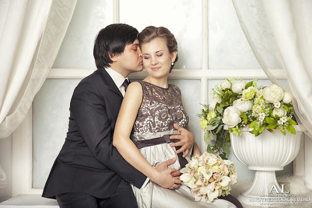 Фотосессия в студии, свадьба