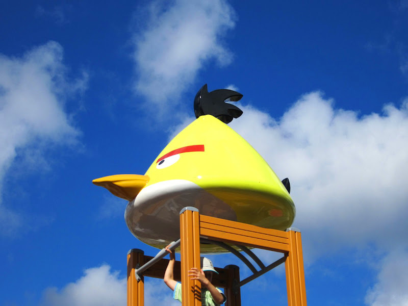 Yellow Angry Bird Flying Cloudbusting2