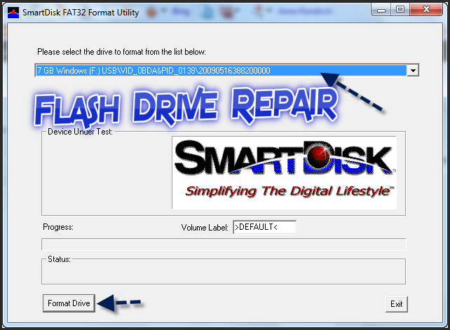 Download Smartdisk Fat32 Format utility for external HDD and USB Flash Drive