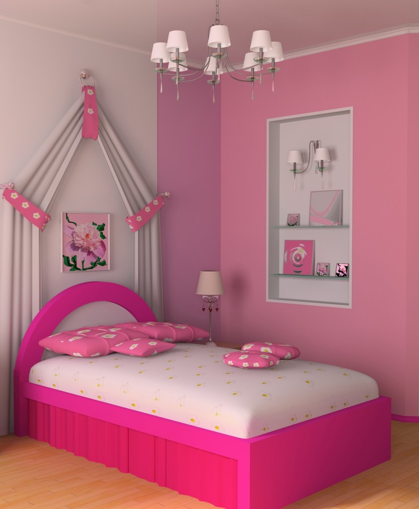 pink girls bedroom design simple bedroom design for girls with bed