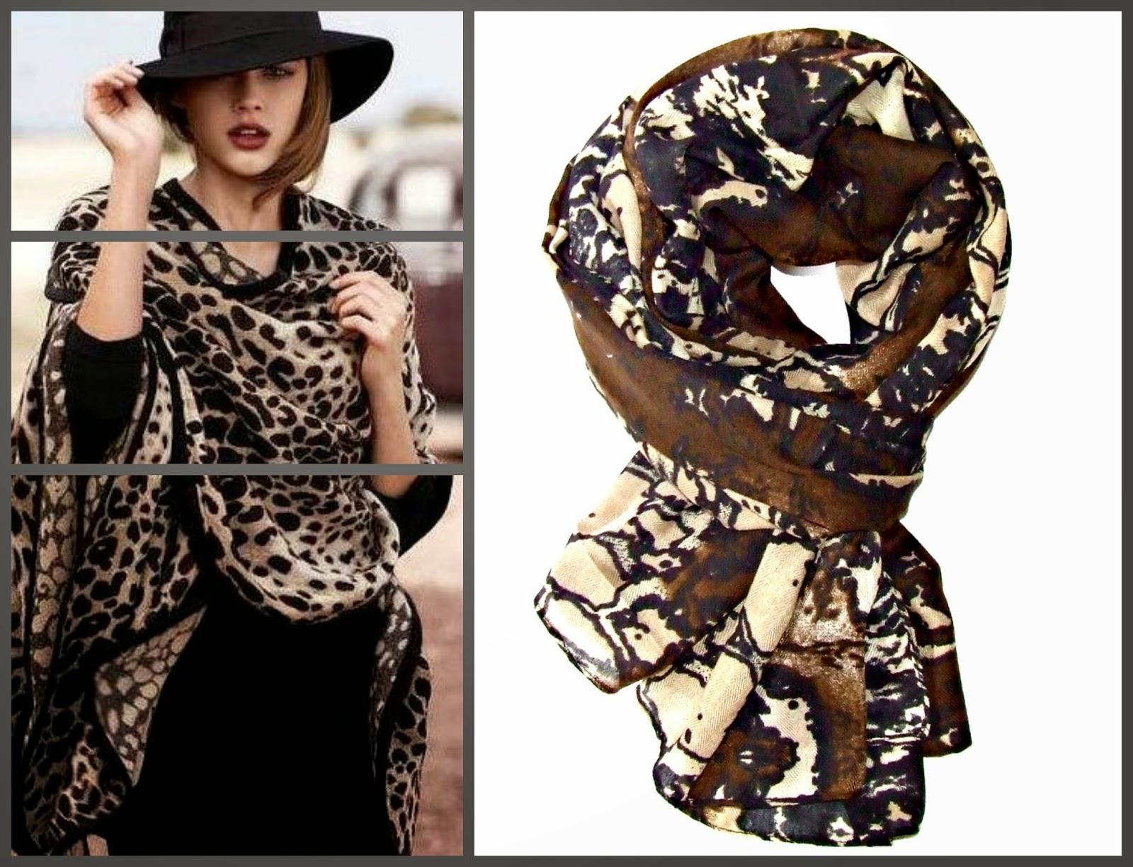 modne jesienne szale z miękkiego materiału by Bella Sisi