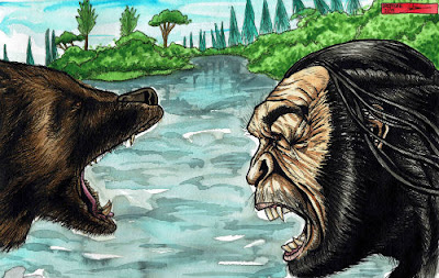 an argument in favor of existence of big foot yeti and sasquatch Porcupines making strange noises (erethizon dorsatum) them as unfit for existence ~ bigfoot, sasquatch interdimensional bigfoot, yeti.