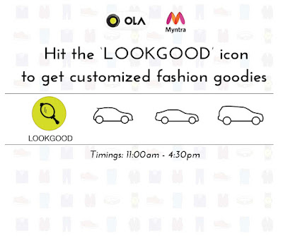 Ola provides you good Advisors from Myntra along with a bag filled with fabulous fashion goodies to add more pep to your looks