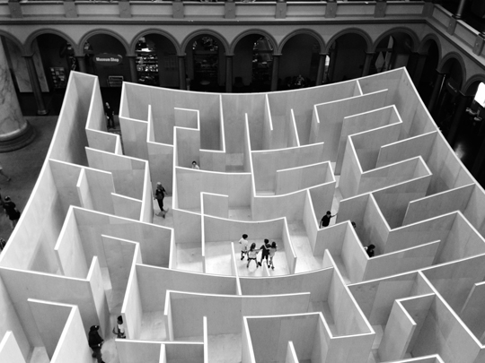 The BIG Maze at the National Building Museum in Washington, DC