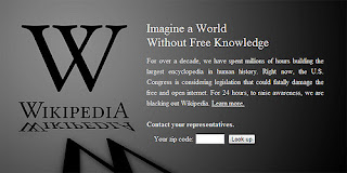 wikipedia blackout SOPA and PIPA