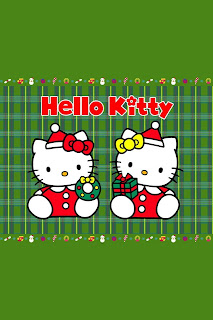 Hello Kitty Christmas iPhone wallpaper background 640x960