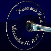 Custom Engraved Champagne Flutes - Giveaway