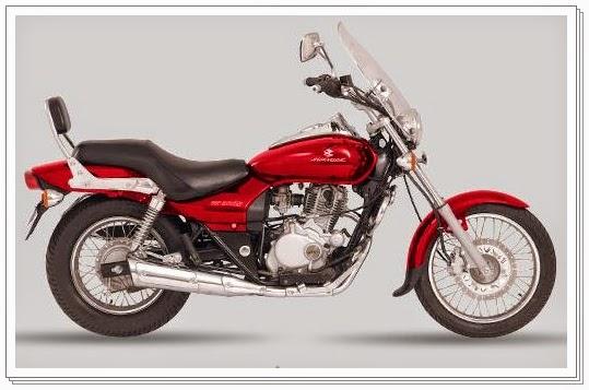 Bajaj Avenger 220 cc red color