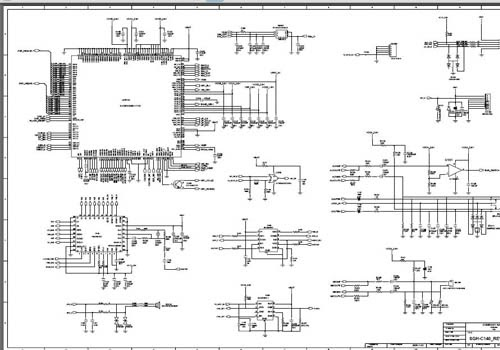 Samsung    SGHC140 Schematic    Diagram     Phone    Diagram