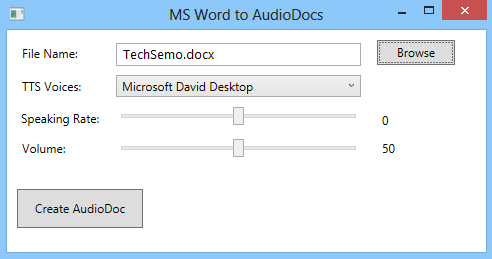 Convert Word Documents to Audio Files