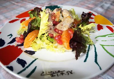 Ensalada templada de codorniz escabechada Alocados en la Cocina