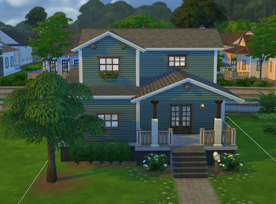 Simply ruthless 3 bedroom craftsman starter for Sims 3 6 bedroom house