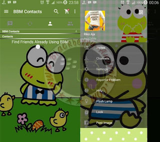 BBM Mod Tema Boneka Lucu Keroppi Terbaru v2.11.0.18 Apk