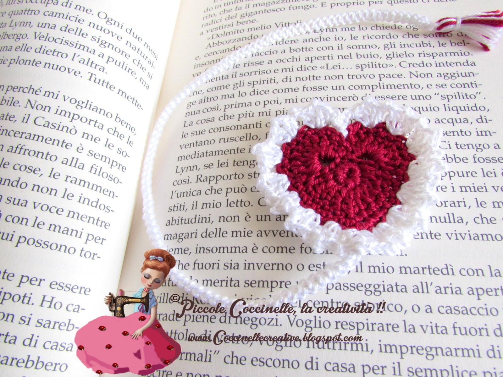 Piccole Coccinelle La Creatività Segnalibro Cuore Romantico