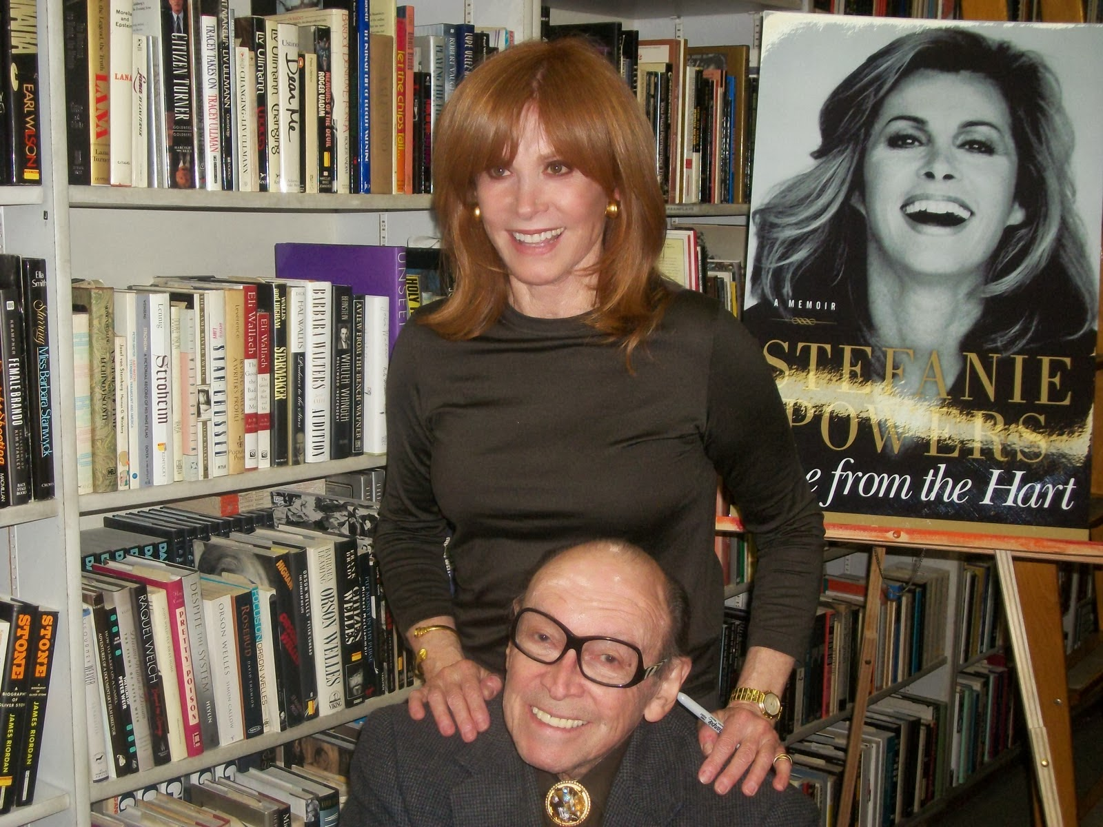 "Marvin, ""working it,"" with the beautiful Stefanie Powers."