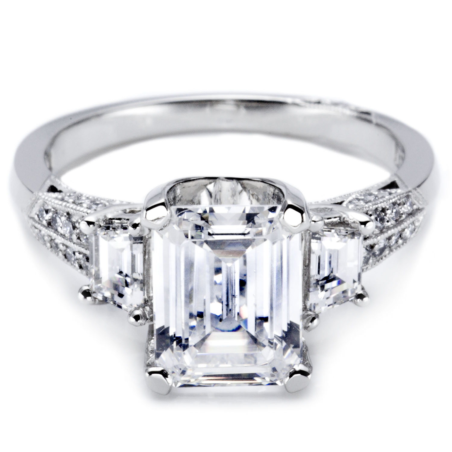 gorgeous tacori emerald engagement rings have your dream. Black Bedroom Furniture Sets. Home Design Ideas