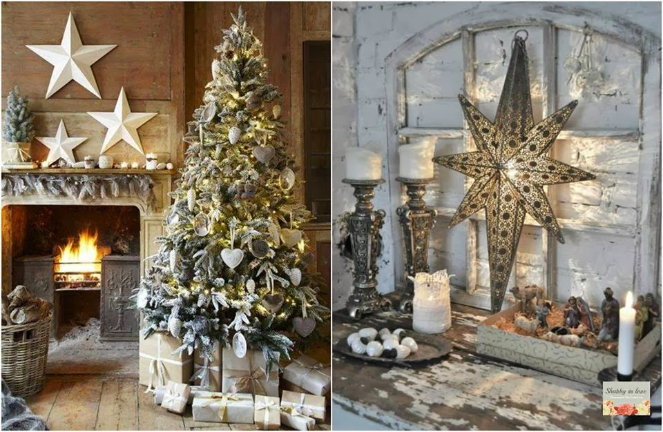Shabby in love decor christmas with stars decorate your windows stairs walls and mantel add stars to the centerpiece and enjoy your christmas holidays solutioingenieria Choice Image