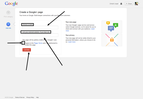How to Create Google+ Fan Page for Your Website/Blog