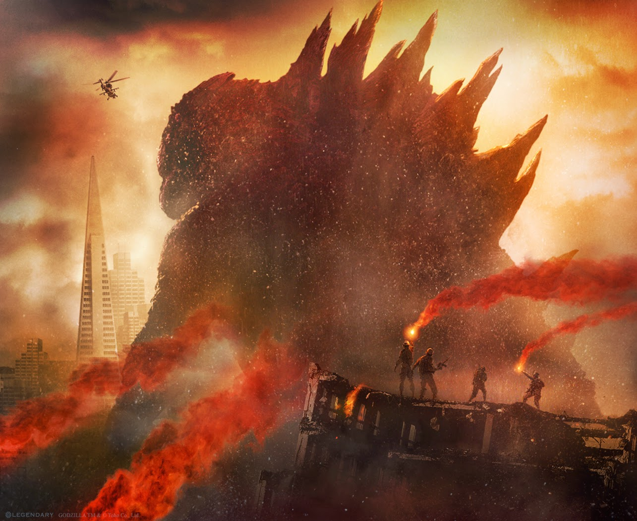 Film Godzilla vs MUTO 2014 Video Foto Terbaru Duel Monster Raksasa