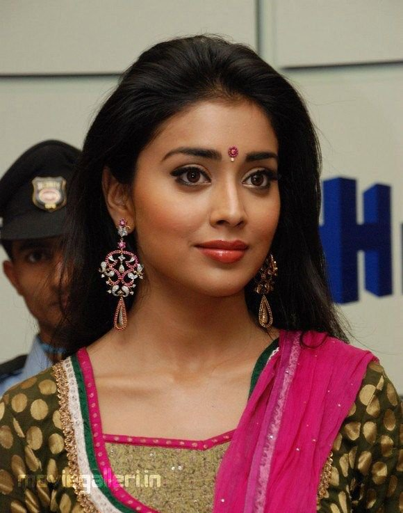 Beautiful Shriya Saran in Ethinic Churidar Dress