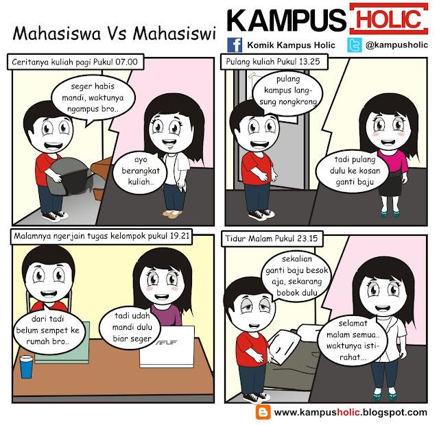 #190 Pakaian Mahasiswa Vs Mahasiswi, komik kampus holic