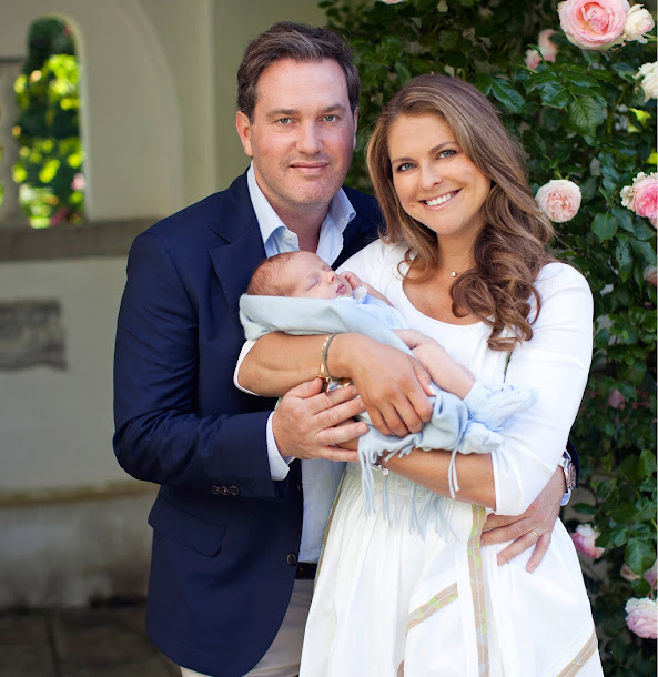 Princess Madeleine of Sweden, Chris O'Neill, Princess Leonore of Sweden and Prince Nicolas