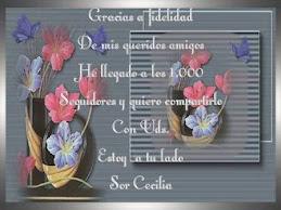 Gracias Sor Cecilia del blogs Estoy a tu lado¡