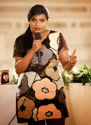 Get The Look Mindy Kaling in French Connection 'Fauna Fantasy' dress.