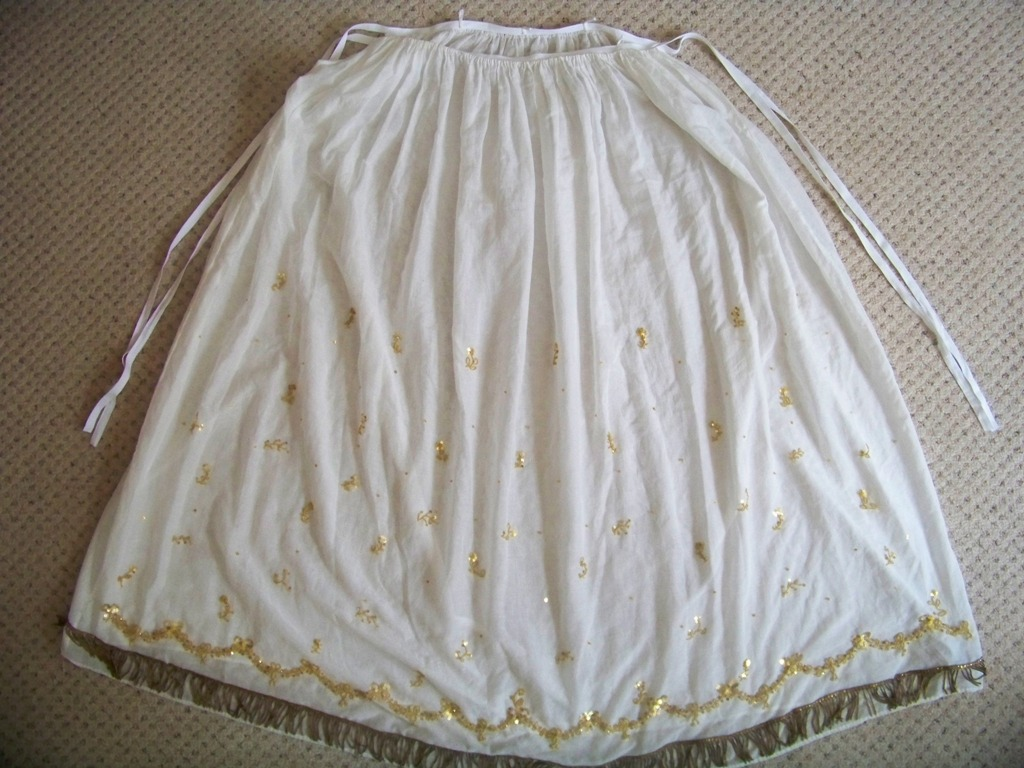 ... through Time: Goldwork-Embroidered Petticoat: The Swags Are Done