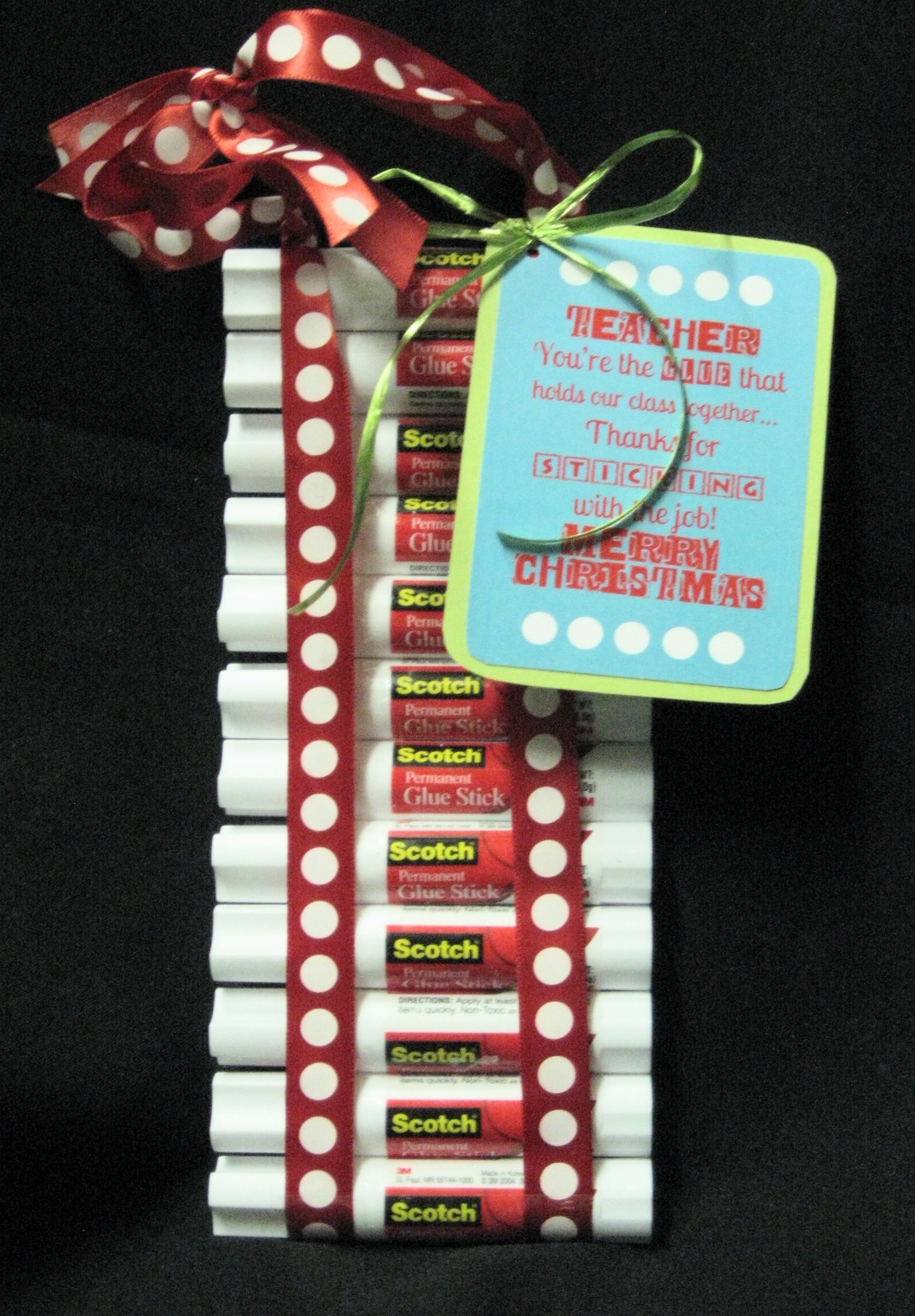 Christmas Teacher Gift - Glue Sticks