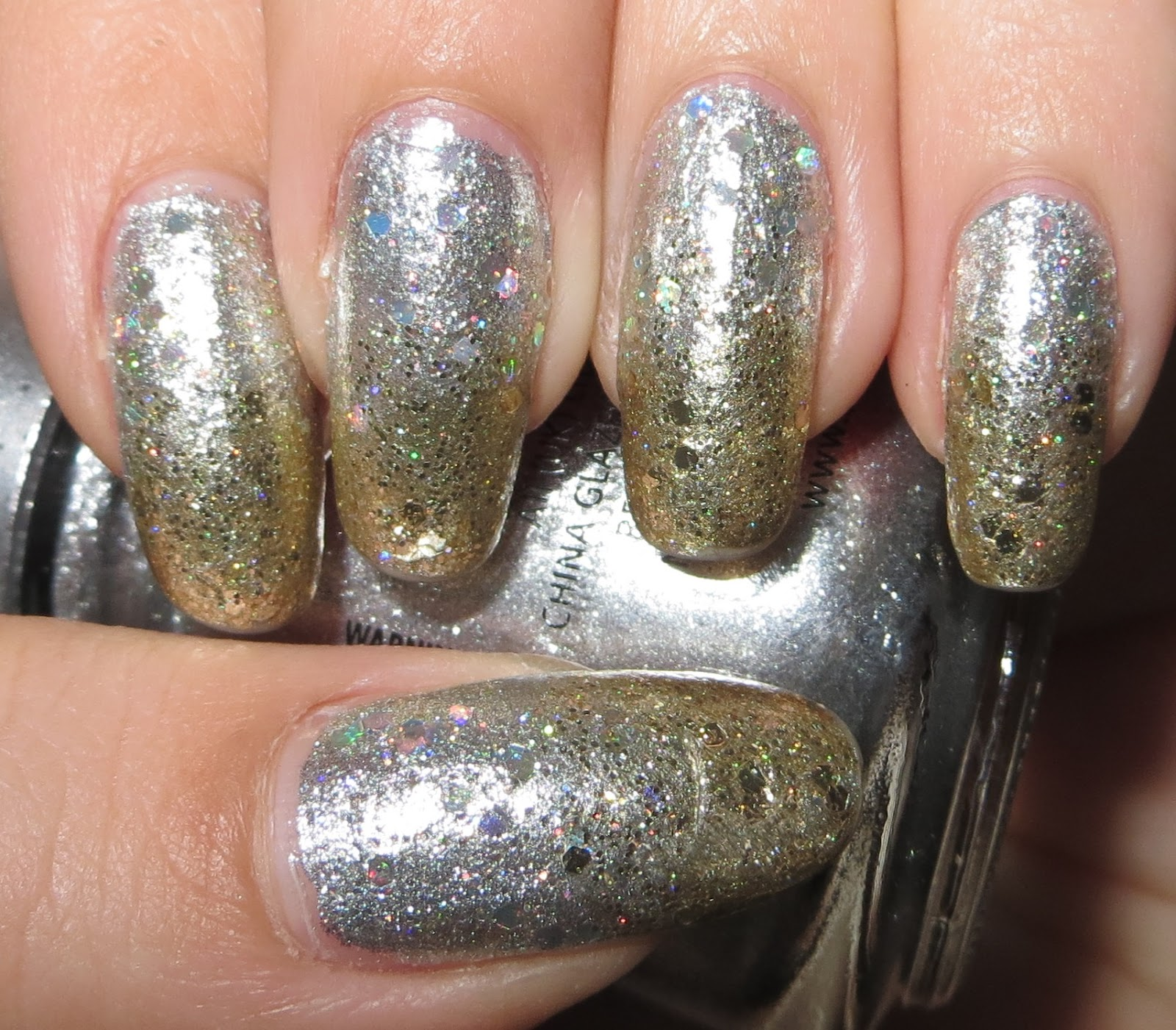 Blingy metallic gradient for new years