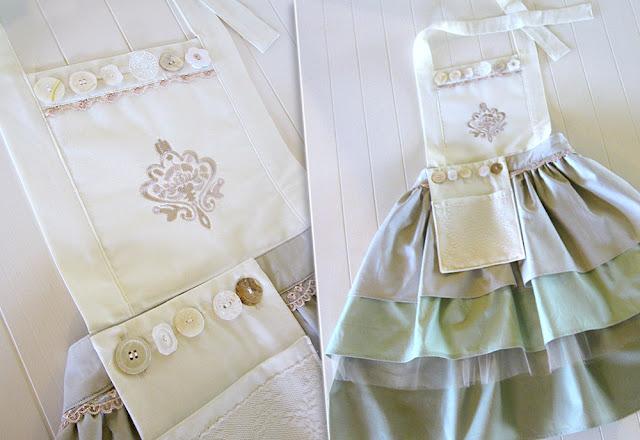 avental com PAP (DIY) em patchwork