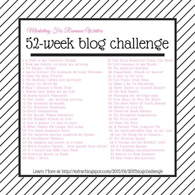 Marketing For Romance Writers 52 Week Blog Challeng