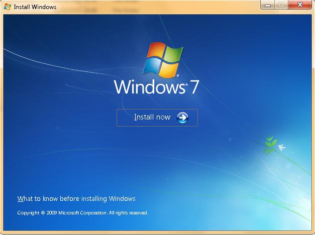 Instal Windows 7 Melalui USB FLASHDISK