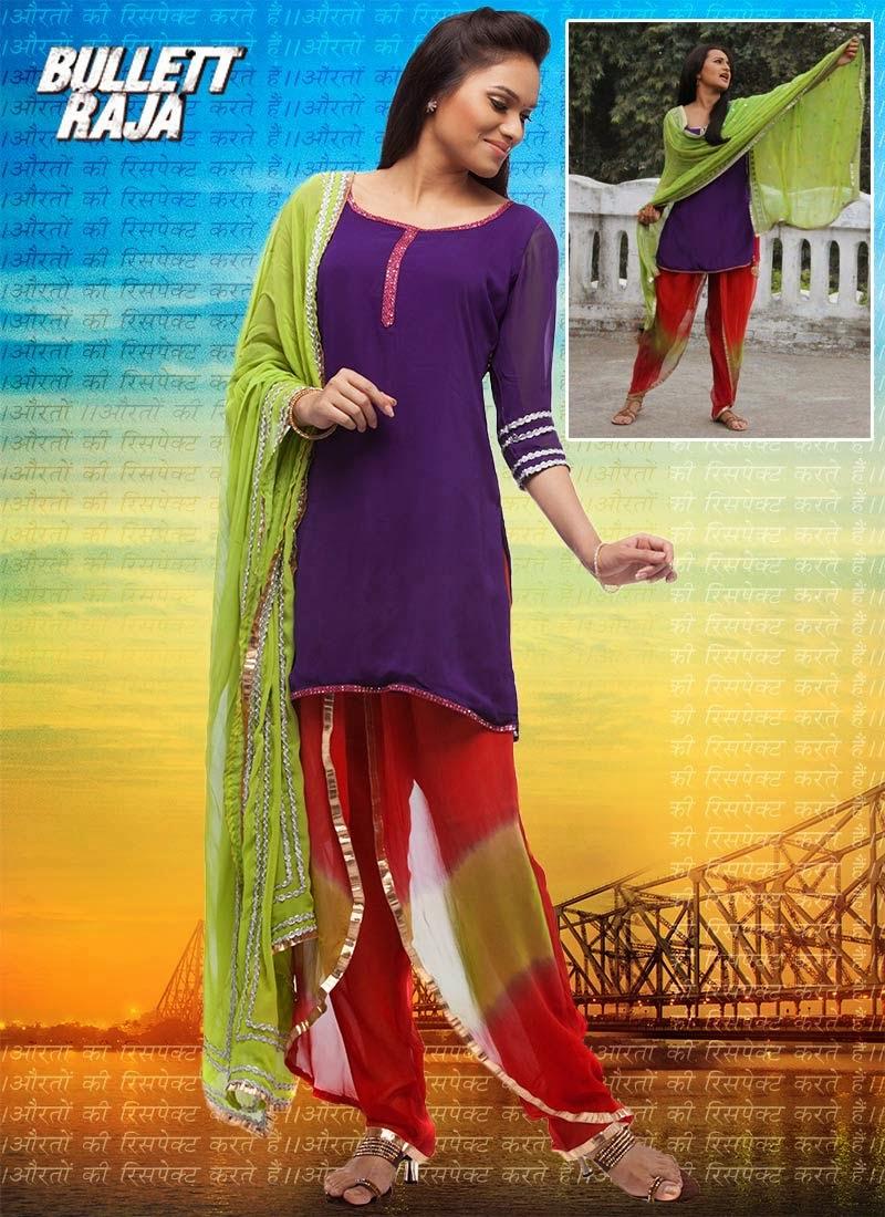 http://www.cbazaar.com/readymade-salwars/elegant-fashions/bullett-raja-sonakshi-dhoti-style-patiyala-suit-p-slcdc1400.html