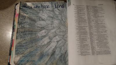 Journaling Bible of Rachel Higgins; Isaiah 40:31, Soar