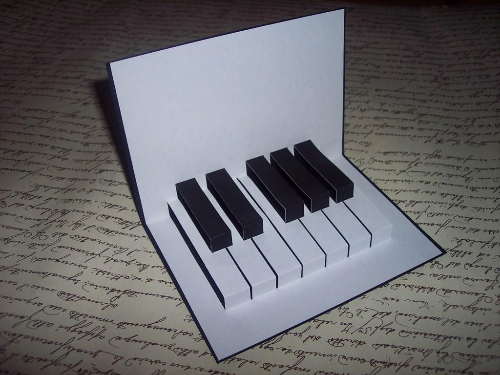 TUTORIAL: TARJETA POP UP TECLADO DE PIANO | Terraza Malva