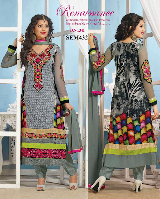 Buy Designer Long Embroidery Salwar Kameez