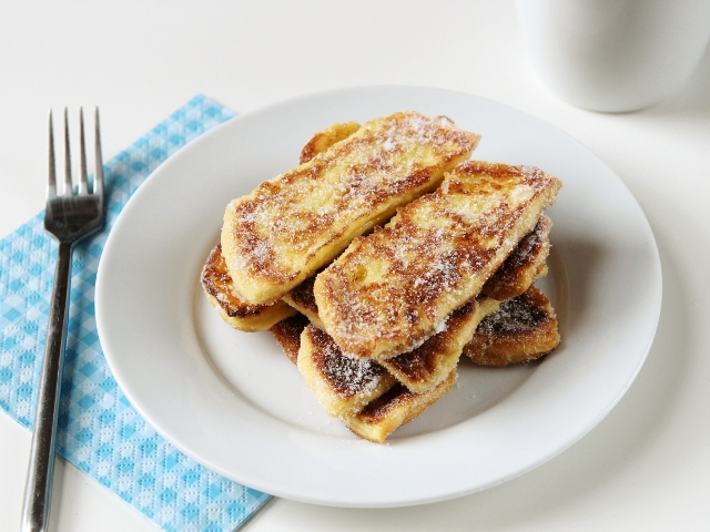 Sugar Dipped French Toast Fingers